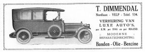 Advertentie Dimmendal 1923