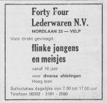 Advertentie Forty Four
